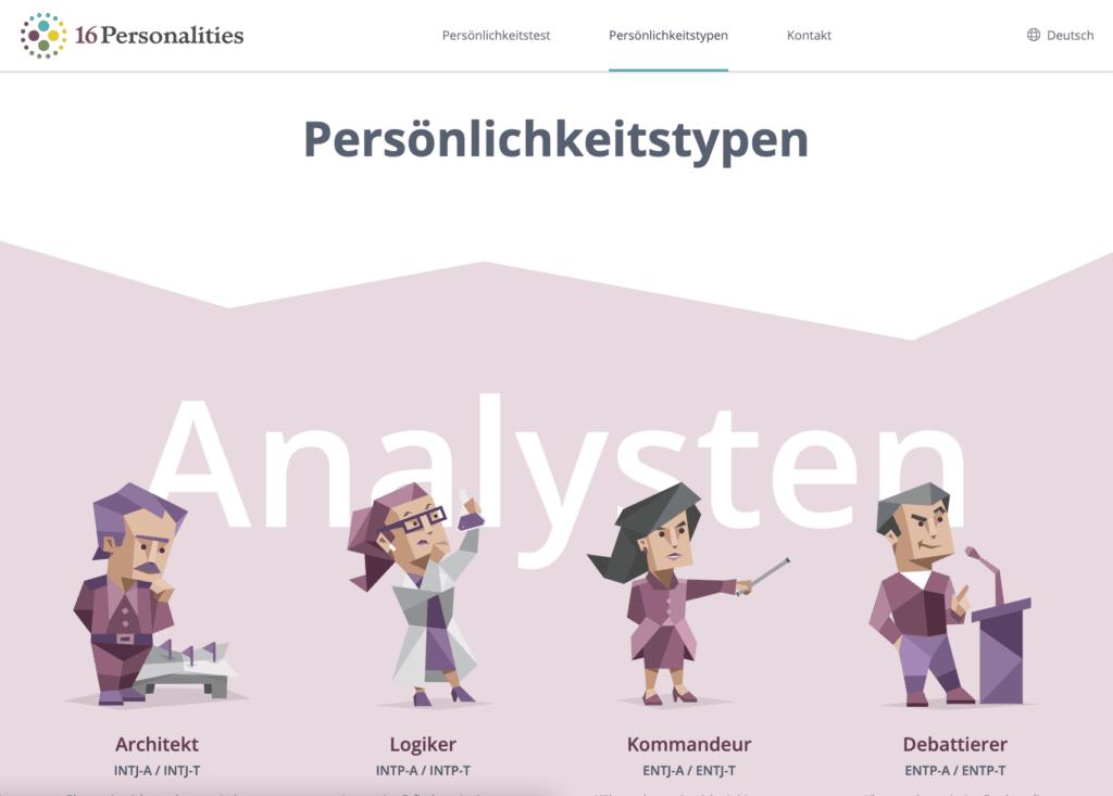 16Personalities Website Screenshot